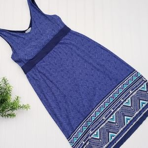 Athleta Blue Printed Santorini Tank Dress sz Sm